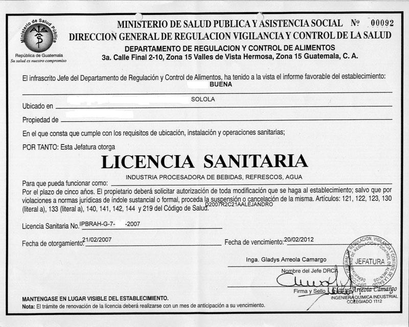 Licencia sanitaria for Clausula suelo real decreto 1 2017