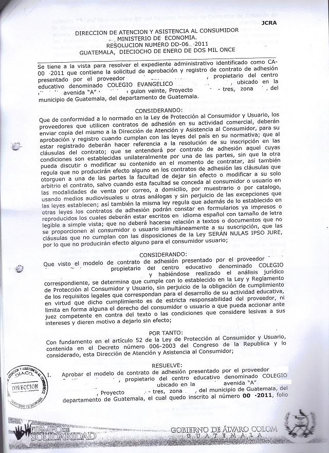RESOLUCION DE AUTORIZACION DE CONTRATO DE ADHESION DE COLEGIO 1.JPG