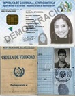 Documento de identidad escaneado