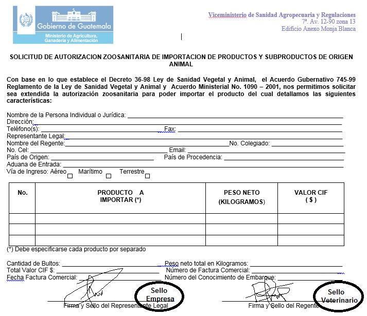 autorizacion zoosanitario de productos de origen animal firmnada y sellada por regente.png