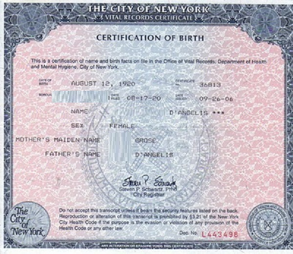 Moderno Certificado De Nacimiento Ontario Estado Bandera - Cómo ...
