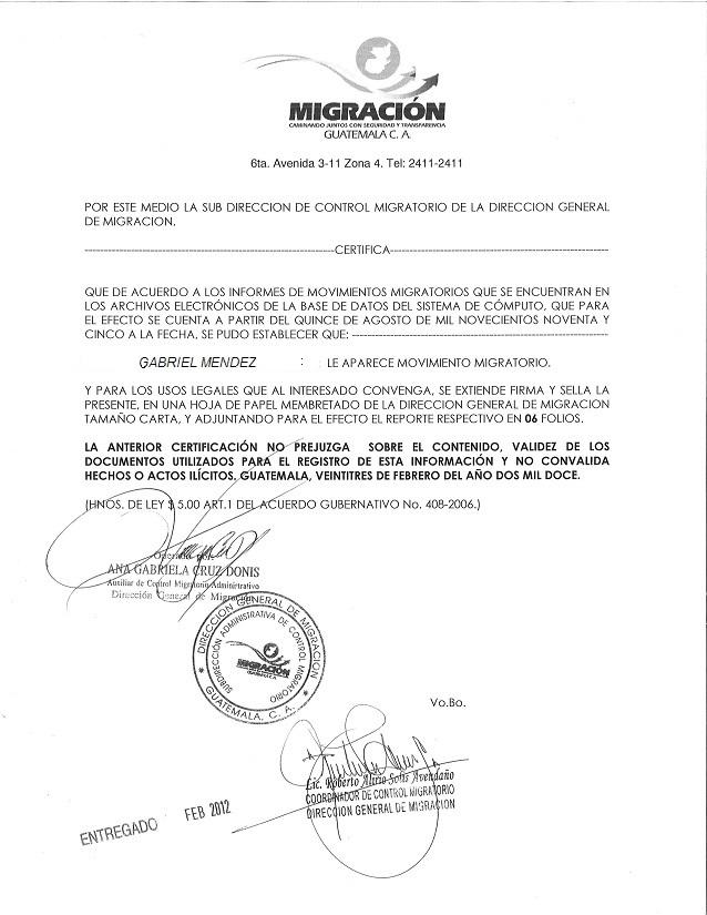01 certificaci n de movimiento migratorio for Ministerio de migracion